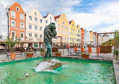 Schärding Brunnen Stadtplatz