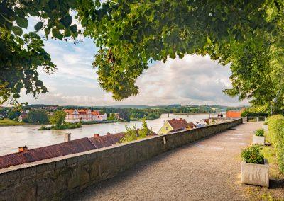 Schärding Schlossgarten Aussicht