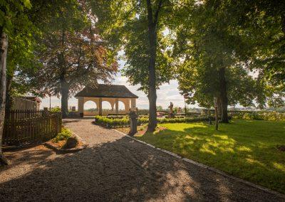 Schärding Schlossgarten Pavilion Aussicht